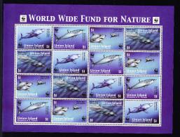 UNION ISLAND GRENADINES OF ST VINCENT 2002, ** MNH, SHARKS, REQUINS. (4V108) - W.W.F.