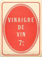 FACT -16 064 : VINAIGRE DE VIN 7° - Etiquettes