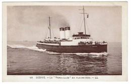 CPA - BATEAU - DIEPPE - Le VERSAILLES En Pleine Mer - - Commerce