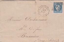 1873 N° 60 LETTRE. RARE CONVOYEUR-STATION LOIRE INFERIEURE LA BASSE-INDRE STN.-N. LIGNE 301 NANTES A ST NAZAIRE  / 7581 - 1849-1876: Periodo Classico