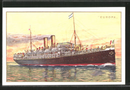 CPA Passagierschiff Europa Auf Hoher See - Paquebots