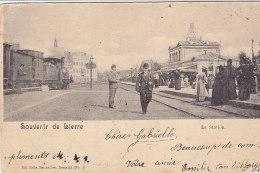 Souvenir De Lierre - Lier - La Station (top Animation, Train, 1901) - Lier
