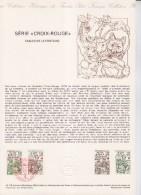 Document Philatélique 1er Jour 02 Château Thierry 02.12.78 N°2024 Et 2025 Croix Rouge Fables De La Fontaine - Documentos Del Correo