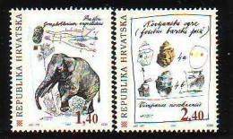 Croatia 1997 Y Paleontological Findings  Mi No 436-37 MNH - Kroatien