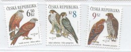 Year 2003 - Birds Of Prey, Set Of 3 Stamps, MNH - Repubblica Ceca