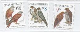 Year 2003 - Birds Of Prey, Set Of 3 Stamps, MNH - Tschechische Republik
