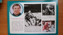 1979 Old USSR Postcard - SOVIET TEAM World Hockey Champions In 1978 - Prague / Praha - Alexander Maltzev - Sports D'hiver