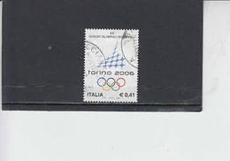 ITALIA 2002 - Sassone 2606° - Sport - Olimpiadi Invernali - Torino - 6. 1946-.. Republic