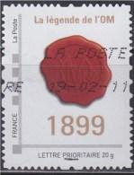 = Personnalisé Oblitéré Cadre Philaposte Gris Lettre Prioritaire 20g La Légende De L'OM (Olympique De Marseille) 1899 - Personalizzati (MonTimbraMoi)