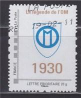 = Personnalisé Oblitéré Cadre Philaposte Gris Lettre Prioritaire 20g La Légende De L'OM (Olympique De Marseille) 1930 - Personalizzati (MonTimbraMoi)