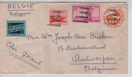 USA Air Mail Cover Written From Ponape East Caroline Islands To Liège Belgium PR3322 - Etats-Unis