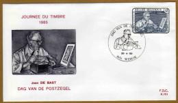 Enveloppe Cover Brief FDC 751 2169 Journée Du Timbre Dag Van De Postzegel Jean De Bast Wervik - FDC