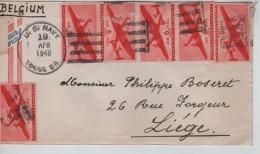 USA Air Mail Cover Written From Ponape Caroline Islands C.US Navy 19/4/1946 To Liège Belgium PR3323 - Etats-Unis
