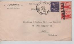 USA Air Mail Cover Written From Ponape Caroline Islands C.US Navy 18/8/1949 To Liège Belgium PR3324 - Etats-Unis