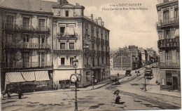 44 SAINT-NAZAIRE  Place Carnot Et Rue Ville-ès-Martin - Saint Nazaire
