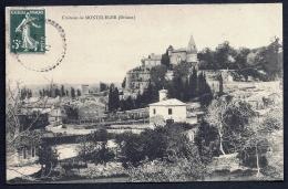 CPA ANCIENNE- MONTELEGER (26)- LE CHATEAU EN GROS PLAN- LE VILLAGE- - Frankreich