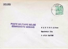 "BSD / FBA ; ""IMPRIME"" PZ (B) "" POST. 8/15.6.80/C 4090 C""  Naar Duits Adres + "" POST MILITAIRE BELGE / ERMÂSSIGTE GEBÜHR"" - Postmark Collection"