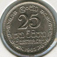 Sri Lanka Ceylon 25 Cents 1965 KM 131 - Sri Lanka