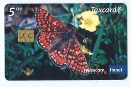 Telecarte Suisse Se 152 Papillon Damier - Schweiz