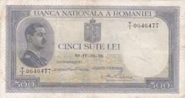 Roumanie Romania Rumänien 500 Lei 1936 - Romania