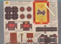 Publicité SHELL - Découpage Automobile Ancienne - Lot De 2 - De Dion Bouton 1888 Et 1898 - Advertising