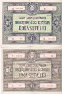 Romania 200 LEI + 100 LEI CEC - Home Savings Bank Bond - - Romania