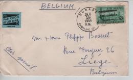 USA Air Mail Cover Written From Ponape Caroline Islands C.Ponape 18/12/1956 To Liège Belgium PR3329 - Etats-Unis