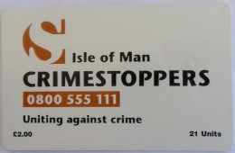 ISLE OF MAN - Crimestoppers, Tirage 10000, Used