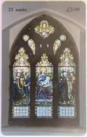 ISLE OF MAN - Stain Glass Window, Tirage 10000, Used