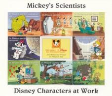 St. Vincent & Grenadines 1996 - Disney Characters At Work Souvenir Sheet 1 Mnh - Disney
