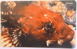 ISLE OF MAN - Scorpion Fish, Tirage 20000, Used
