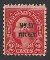 United States, 2 C. 1928, Sc # 646, Mi # 313, MNH - United States