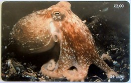 ISLE OF MAN - Curled Octopus, Tirage 20000, Used