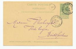 Entier Postal Armoiries OUDENBURG 1903 Vers BOITSFORT - Exp. Les Soeurs De Notre-Dame En Français --  XX564 - Entiers Postaux