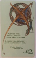 ISLE OF MAN - Merry Christmas From Manx Telecom 2000, Tirage 5000, Used