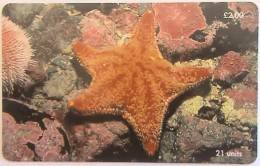 ISLE OF MAN - Red Cushion Starfish, Tirage 20000, Used