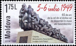 MOLDOVA 2014 EVENTS 65 Years Since The Deportations Of Germans From BESSARABIA - Fine Set MNH - Moldova