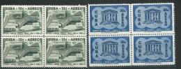 Cuba Poste Aerienne - Yvert Série 193/1940** Bloc De 4 ( Petite Tache Au Dos D'1 Timbre Du 30 C - Abc9401 - Poste Aérienne