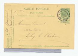 Entier Postal Armoiries De GOURDINNE Via THY Le CHATEAU 1909 - Joint Un Reçu De Bon De Poste  --  XX571 - Entiers Postaux