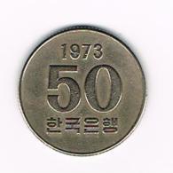 °°°  ZUID KOREA 50 WON 1973 - Corée Du Sud