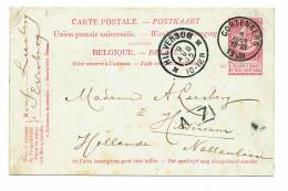Entier Postal Fine Barbe CORTENBERG 1905 Vers HILVERSUM NL - Origine EVERBERG  --  XX574 - Entiers Postaux