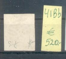 GOUVERNMENT PROVISOIRE AN 1870 CERES EMISSION DITE DE BORDEAUX LITHOGRAPHIE PAPIER TEINTE YVERT NR. 41Bb GRIS LILAS RARE - 1871-1875 Cérès