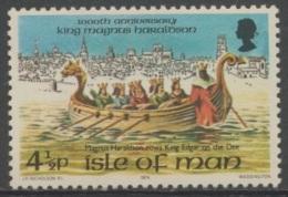 Isle Of Man 1974 Mi 45 YT 33 Sc 45 ** Magnus Harldson Rows King Edgar On The Dee / Ruderboot / Canot / Roeiboot - Boten