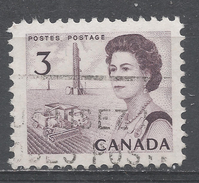Canada 1967, Scott #456 Combine And Oil Rig (Prairie Region) (U) - 1952-.... Règne D'Elizabeth II