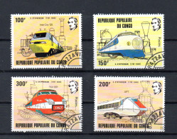 TIMBRES N°656/59 OBLITERES TRAINS - Congo - Brazzaville