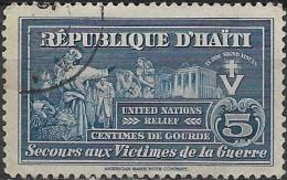 HAITI 1944 Obligatory Tax. United Nations Relief Fund - War Victims - 5c. - Blue  FU - Haïti