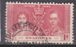 Swaziland: George VI, 1937, 1d, Coronation Used - Swaziland (...-1967)