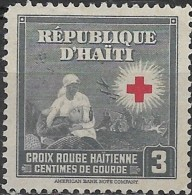 HAITI 1945 Red Cross Stamps - Nurse And Wounded Soldier - 3c. - Black  MNG - Haiti