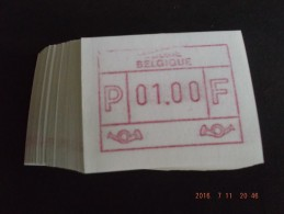 Clichébreuk Bovenkader. Nieuwe Cijfers, Laag Punt. E Papier. N/F. 100 X. R. - Postage Labels
