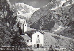 Courmayeur (m. 1224) - Notre Dame De La Guèrison Il M. Bianco Ed Il Ghiacciaio Della Brenva - Italia